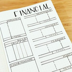 journal Inspiration: Finance Trackers