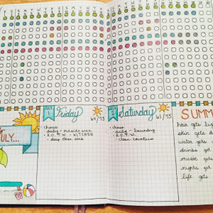 Habit Tracker from Instagram user @lilu_bujos.