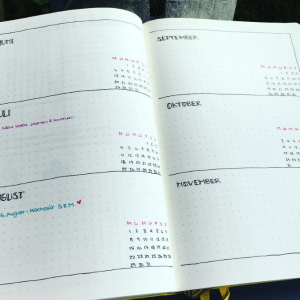 Yearly Spread from Instagram user @bu.journal.love. journal Yearly Spread Gallery. Templates, Inspiration, Giveaways and more at lifebywhitney.com.