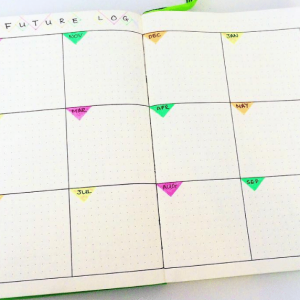 Yearly Spread from Instagram user @lexislog. journal Yearly Spread Gallery. Templates, Inspiration, Giveaways and more at lifebywhitney.com.