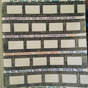 TV & Movie journal Spread Inspiration Gallery. Templates, Inspiration, Giveaways and more at lifebywhitney.com.