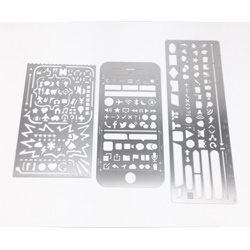 Stainless Steel 3-Pack Stencils
