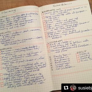 Cleaning & Organizing journal gallery. Pic from Instagram user: @susiebjournal