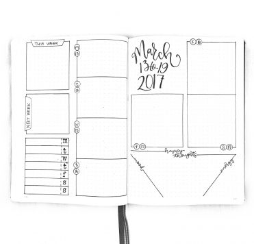 journal Weekly Spread -- Templates, Supplies, Videos and more at Bulleteverything.com