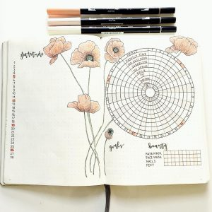 Gratitude trackers in your journal. This is a collection of several from Instagram. Thanks @bulletbymalin!
