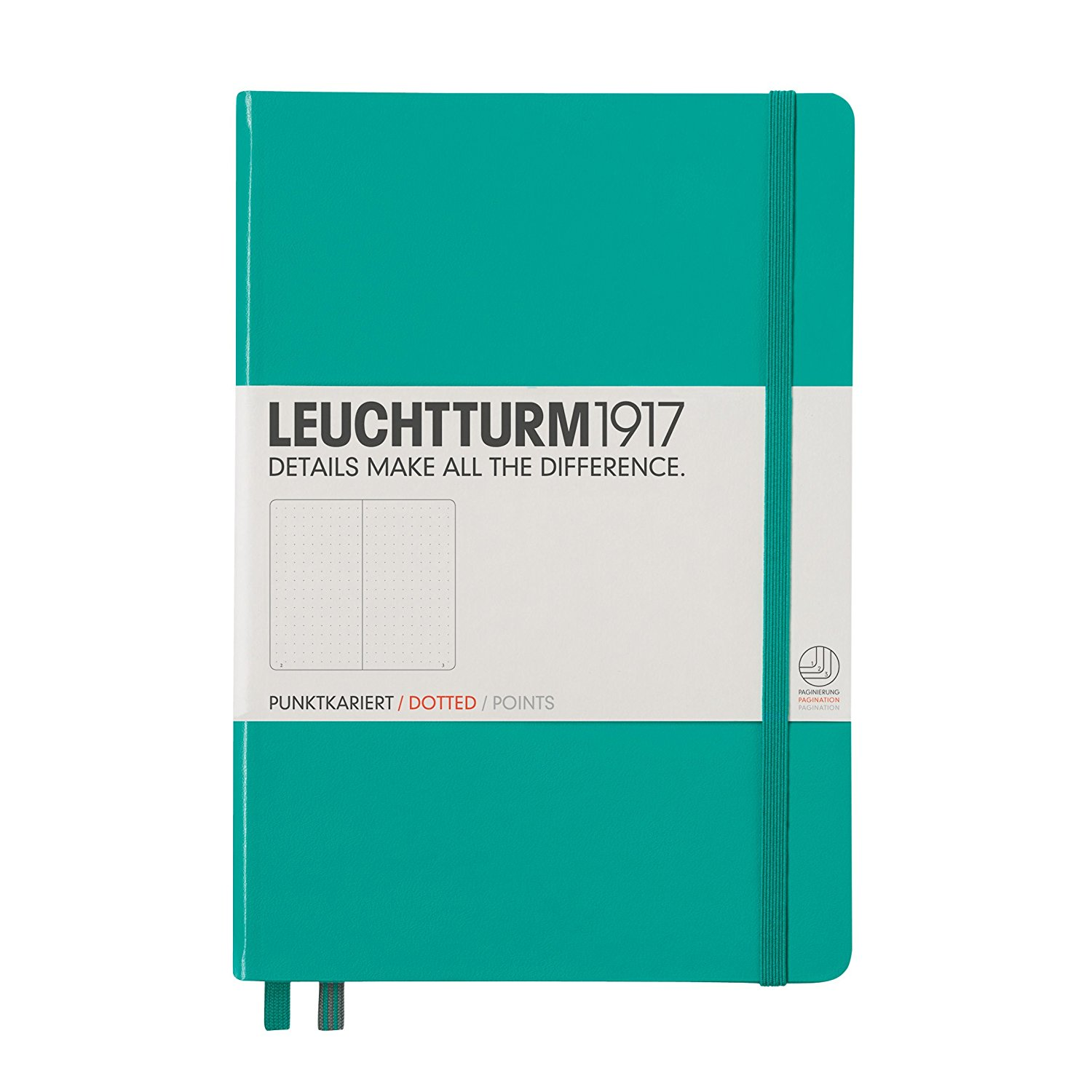 Emerald Leuchtturm 1917 A5 Dotted Journal