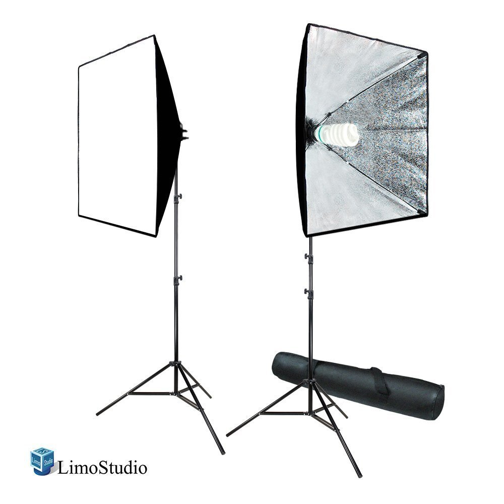 "LimoStudio 700W Photography Softbox Light Lighting Kit Photo Equipment Soft Studio Light Softbox 24""X24"", AGG814"