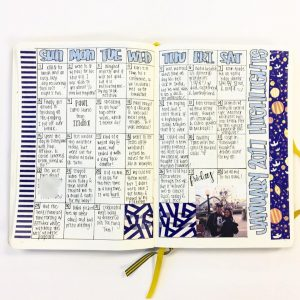 Gratitude trackers in your journal. This is a collection of several from Instagram. Thanks @writingbravely!