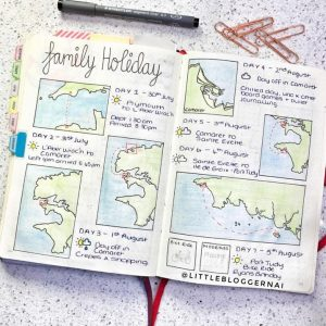 A collection of travel trackers from around Instagram. Fun, creative ways to track your travels in your journal. View more at lifebywhitney.com.