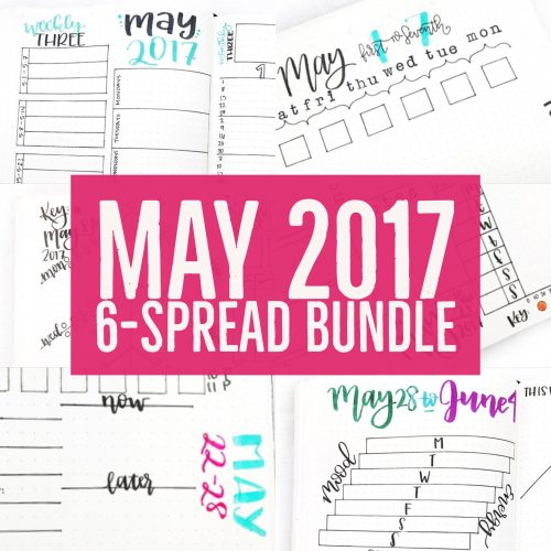 Printable spreads for your journal or planner. 5 all new weekly & my favorite monthly spread yet.