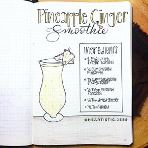 Do you have any recipes written or drawn in your journal?? Check out this collection from some very creative Instagram users!