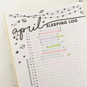 Love this sleep tracker from @rockthisjournalnl! See more at lifebywhitney.com!