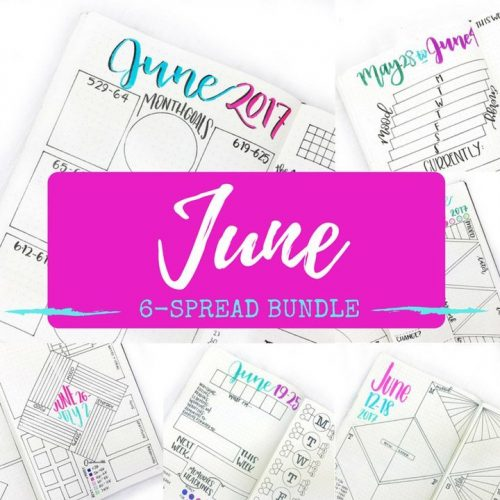6 Brand new spreads (5 weeklies + 1 monthly) for your month! Use blank versions yourself or use the inDesign file included to edit your own.