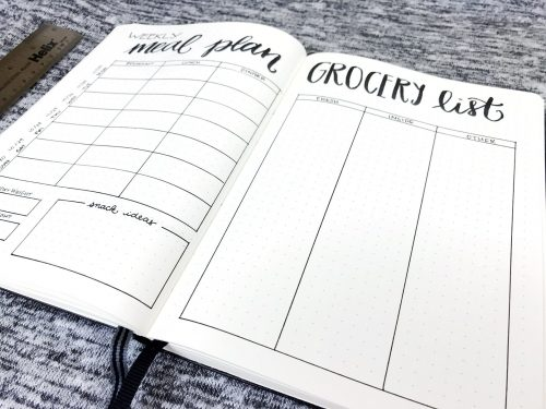 Weekly Meal Planner & Grocery List (Limited)