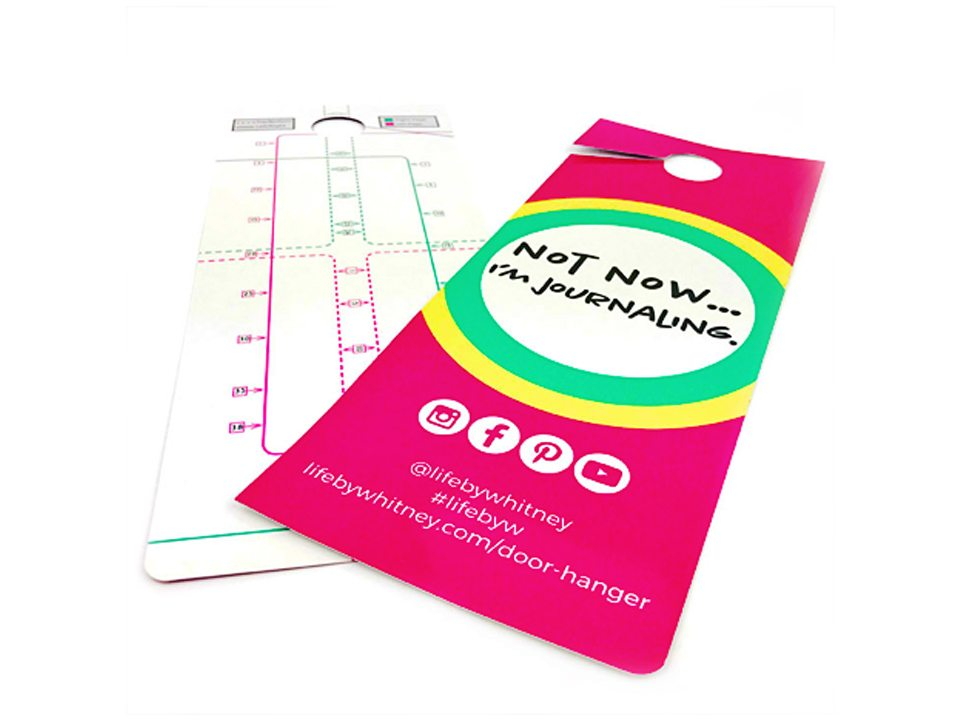 Door Hanger Pack comes with two hangers each with a rotatable journal ruler.