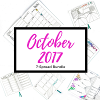 Six brand new weekly spreads and 1 monthly spread for October 2017. Transfer them to your journal or use them digitally. See more at lifebywhitney.com!