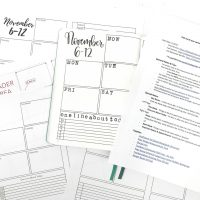 This spread is a great weekly spread to get started if you want to keep it as basic as possible. I use the journal companion here to divide the pages, so this layout is very compatible with most journals.