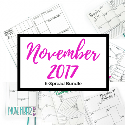 November's all new designs are ready for transfer into your own journal or for digital use! This set is all about goal-setting and tracking! Find more at lifebywhitney.com!