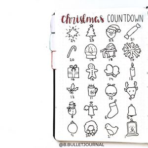A ton of Christmas spread inspiration at lifebywhitney.com. Love this spread from @b.bulletjournal!