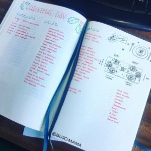 A ton of Christmas spread inspiration at lifebywhitney.com. Love this spread from @bujo.mama!