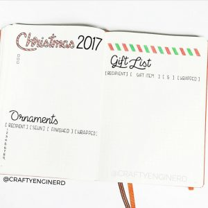 A ton of Christmas spread inspiration at lifebywhitney.com. Love this spread from @craftyenginerd!