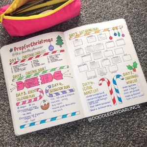 A ton of Christmas spread inspiration at lifebywhitney.com. Love this spread from @doodledaydarlings!