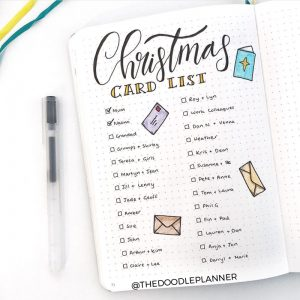 A ton of Christmas spread inspiration at lifebywhitney.com. Love this spread from @thedoodleplanner!