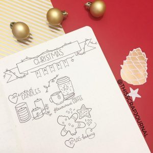 A ton of Christmas spread inspiration at lifebywhitney.com. Love this spread from @thisscrapjournal!