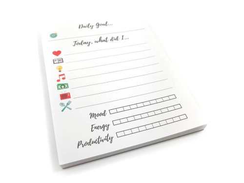Want to make journaling a breeze? Try these Tracker Pads. They're super easy and convenient. Each pad has 50 sheets and you get 2 pads per order (for a total of 100 sheets).