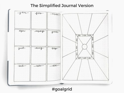 The Goal Grid: How to Set Your BIG Goals this Year - with a free grid printable! #goalgrid