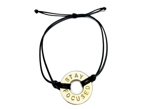 MyIntent Bracelets with golden token and black string color