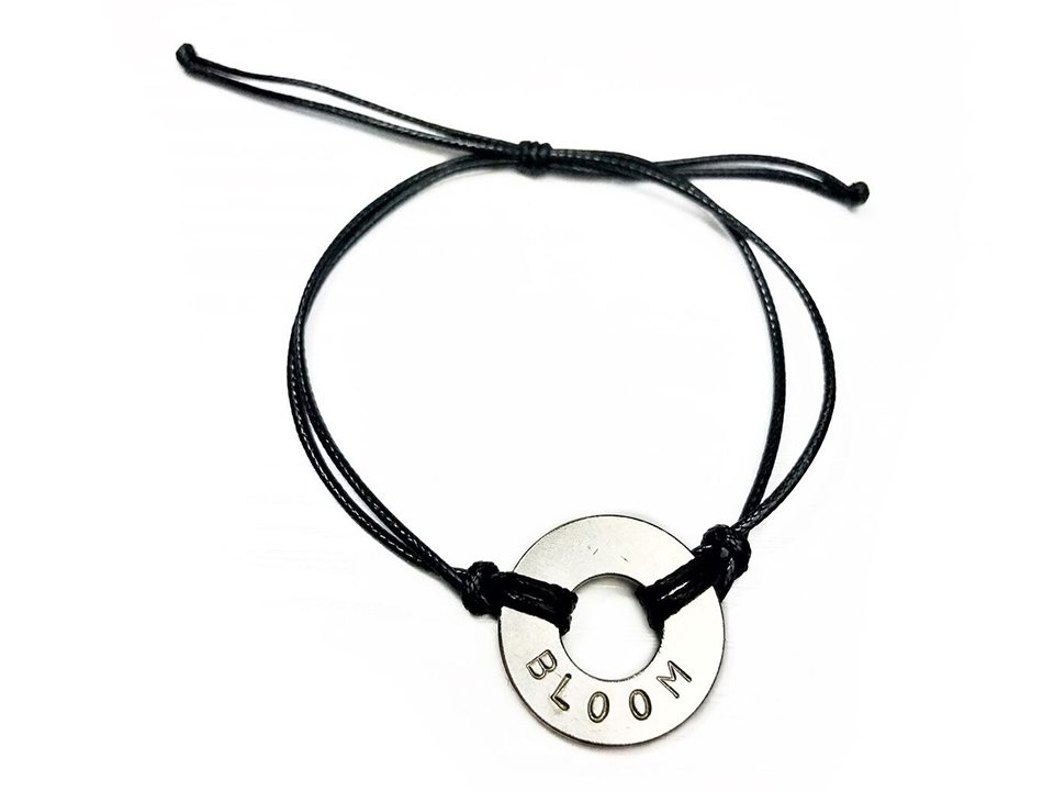 MyIntent Bracelets with silver token and black string color