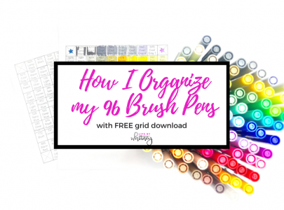 How I Organize my Tombow Dual Brush Pens (+ Free Printable Grid)