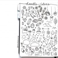 Doodle ideas from @b.bulletjournal. Master Doodling with 20+ Inspirational Doodle Accounts