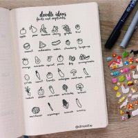Doodle ideas for your journal from @direiellie. Master Doodling with 20+ Inspirational Doodle Accounts