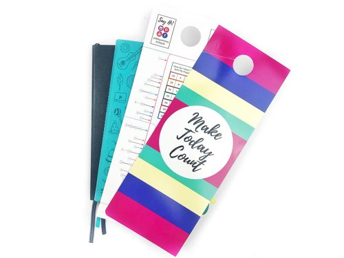 Journal confidently with the Door Hanger Pro 2-pack, with a backside measurement tool that fits into any journal.