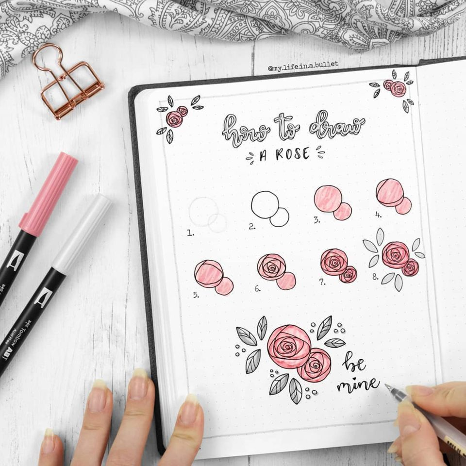 Love @mylifeinabullet and her tutorials! Master Doodling with 20+ Inspirational Doodle Accounts