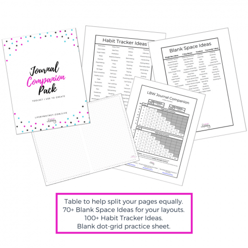 Print & use this companion pack to help create your weekly & monthly layouts! You get ALL of this for free! #bulletjournal #planneraddict #freeprintable