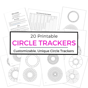 Want to try out new circle trackers, but don't want to draw out every single one? Download these printable circles and track your years, months, weeks and days in a beautiful visual way!