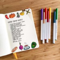 List your quick prep meal ideas like @bujo_kdm. Check out 50+ meal planning, grocery shopping, meal tracking, meal ideas, food doodling, booze tracking, menu planning, and more at lifebywhitney.com