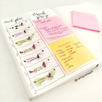 Mix & match your meals with Post-It notes like @calligrateph!