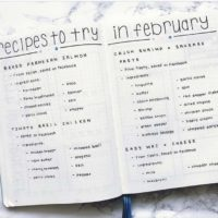 Track which recipes you want to try like @bluenittany. Check out 50+ meal planning, grocery shopping, meal tracking, meal ideas, food doodling, booze tracking, menu planning, and more at lifebywhitney.com.