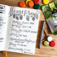 Track your homebrews in your journal like @bujo_kdm. Check out 50+ meal planning, grocery shopping, meal tracking, meal ideas, food doodling, booze tracking, menu planning, and more at lifebywhitney.com.