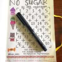 Use a No Sugar tracker in your journal like this one from @bujo_kdm & stay on track. Check out 50+ meal planning, grocery shopping, meal tracking, meal ideas, food doodling, booze tracking, menu planning, and more at lifebywhitney.com.