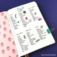 Make a master Pantry list like @productivestyle to keep everything organized! Check out 50+ meal planning, grocery shopping, meal tracking, meal ideas, food doodling, booze tracking, menu planning, and more at lifebywhitney.com.