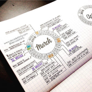 Love this circle tracker from @decadethirty!
