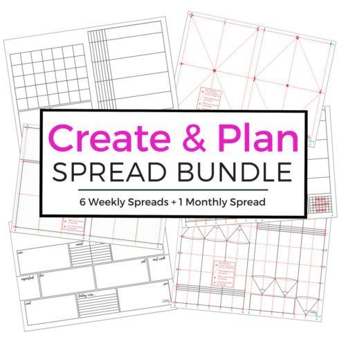 7 brand new printable spreads for your journal or planner! Use the measurement files to transfer into your own journal or just print and paste the blank version.