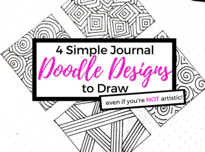 4 Simple Journal Doodles to Draw (even when you're NOT artistic)