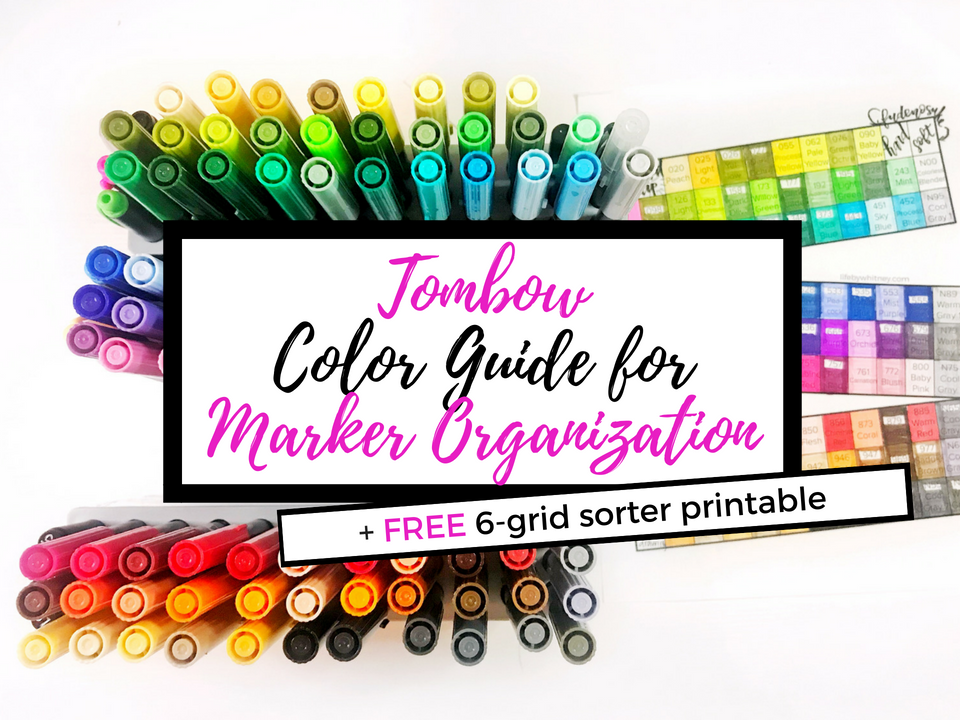 Tombow Color Guide Free Printable for Marker Organization
