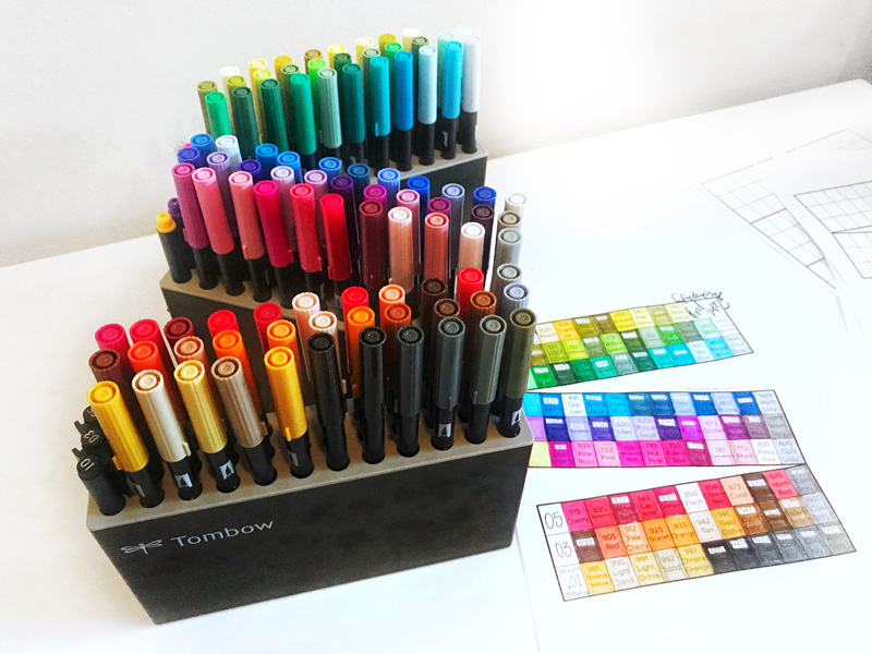 Tombow Color Guide For Marker Organization Free Printable Life